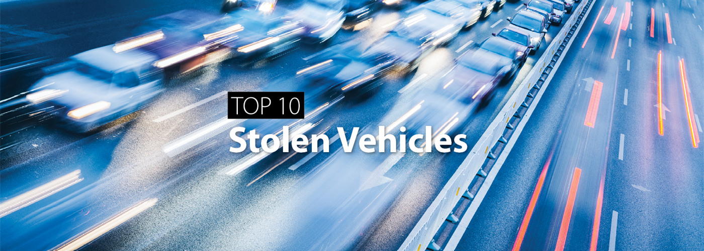 Top 10 Stolen Vehicles