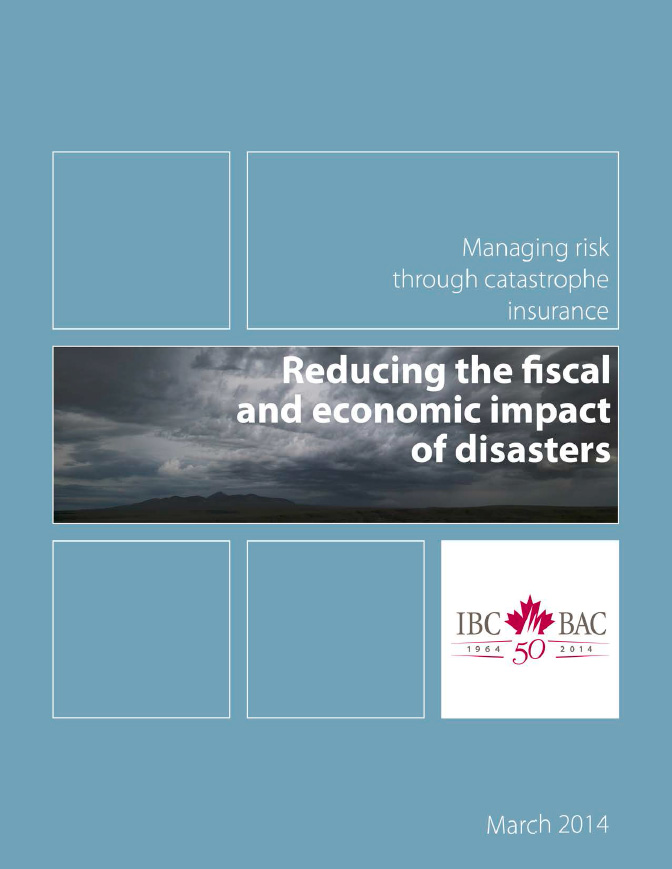 Reducing the fiscal and economic impact of disasters