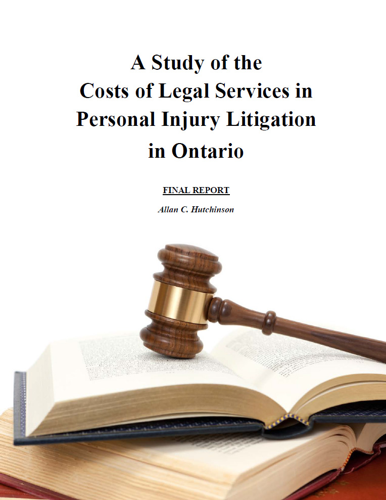 A Study of the Costs of Legal Services in Personal Injury Litigation