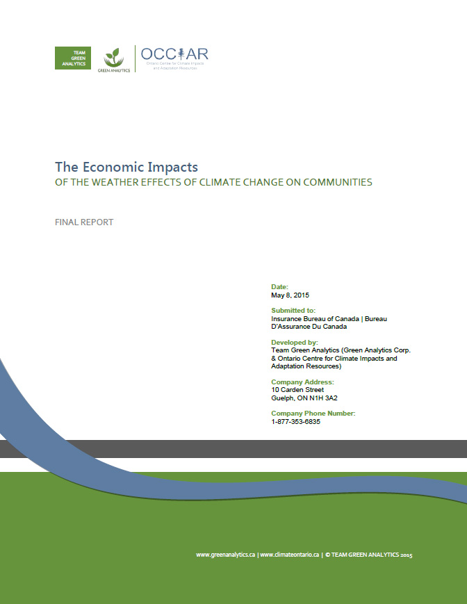 The Economic Impacts of the Weather Effects of Climate Change on Communities (Full Report)