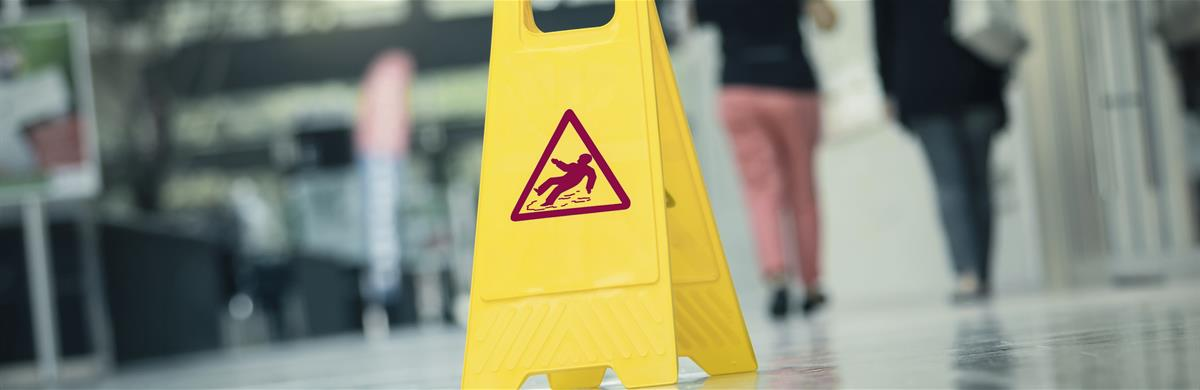 Slip Trip and Fall (Occupiers Liability) Banner