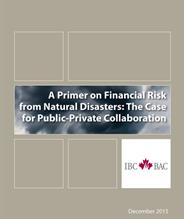 A Primer in Financial Risk from Natural Disasters: The Case for Public-Private Collaboration