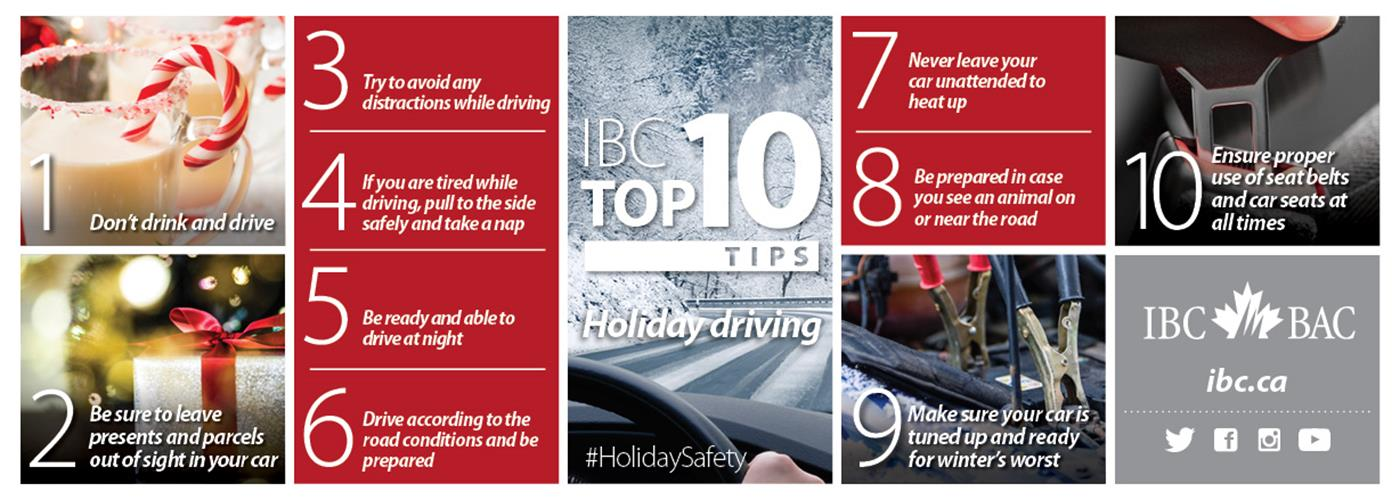 IBC Top 10: Tips for a safe holiday season on the roads